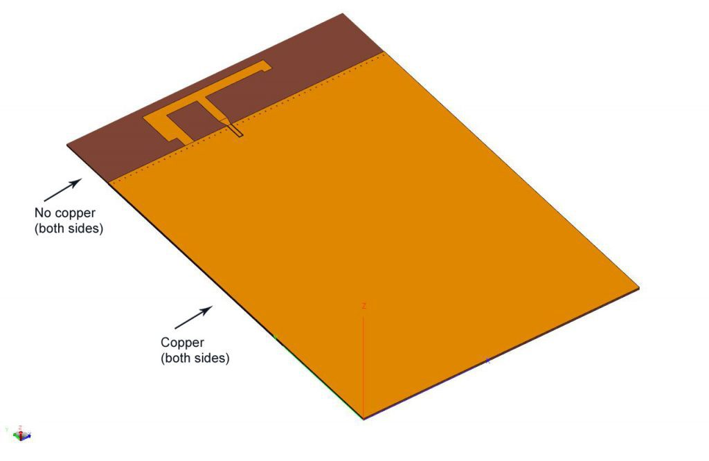 Modeling an Inverted-F Antenna in FEKO | ARSI Consultants